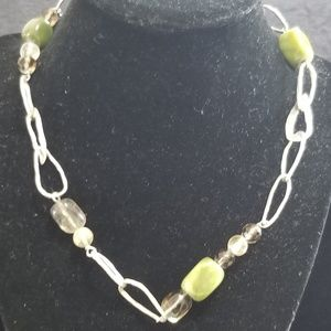 925 Sterling Silpada Serpentine Quartz Necklace